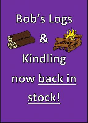 Hardwood logs an kindling now back in stock